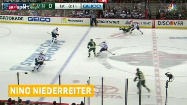 Video «Eishockey, NHL: Niederreiter mit ersten Playoff-Tor» abspielen