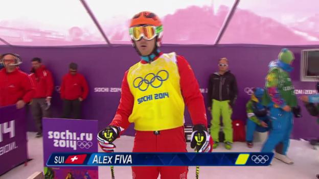 Video «Skicross: Männer, Achtelfinal mit Alex Fiva (sotschi direkt, 20.2.2014)» abspielen
