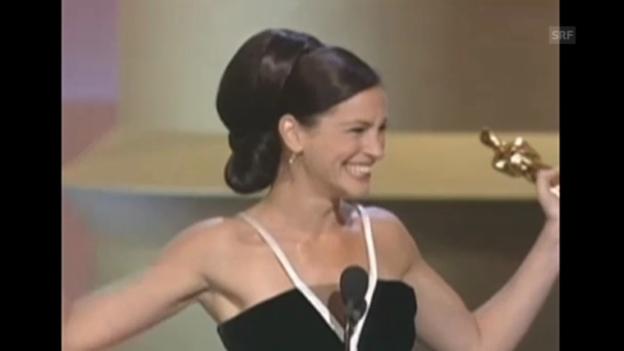 Video «Julia Roberts überschwängliche Oscar-Rede (2001)» abspielen