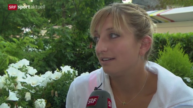 Video «Tennis: French Open in Paris, Bacsinszky nach dem Halbfinal» abspielen