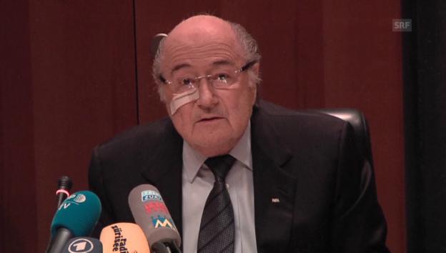 Video «Blatter: «Heute morgen war ich traurig, jetzt will ich kämpfen»» abspielen