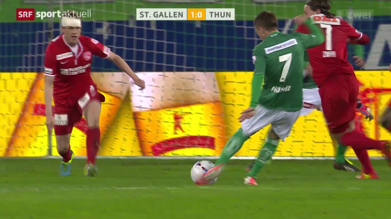 Fussball: Super League, St. Gallen - Thun