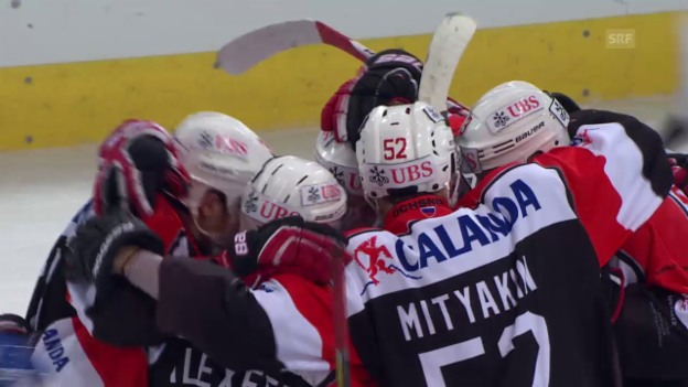 Video «Eishockey: Spengler Cup 2015, Davos-Jekaterinburg, 1:4 Alexejew» abspielen