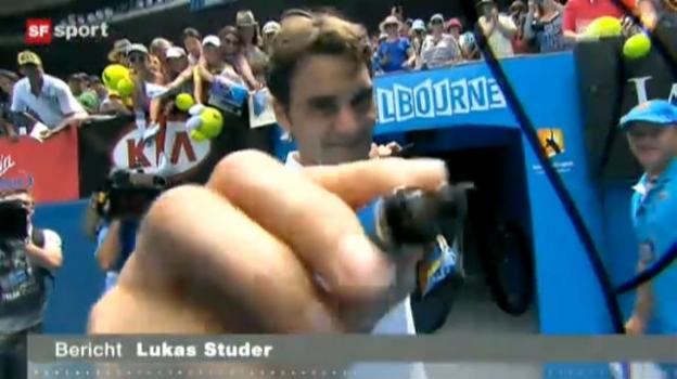 Video «Roger Federer - Stanislas Wawrinka» abspielen