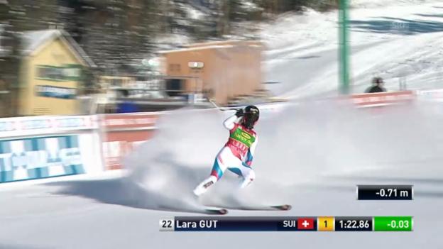 Video «SKI: Super-G-Lauf von Lara Gut» abspielen