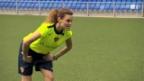 Video «Chrstina Surer fordert Beni Thurnheer» abspielen