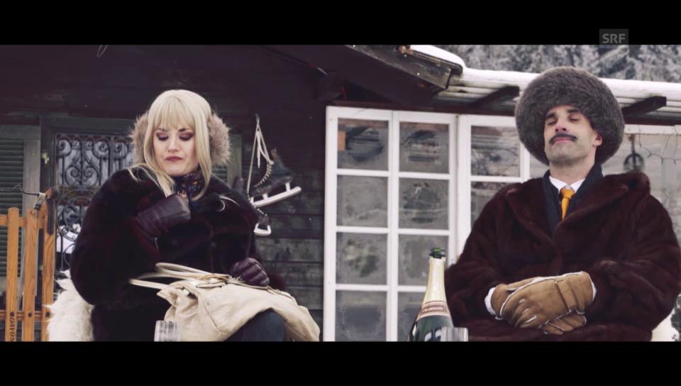 Chic im Schnee: Einheimische