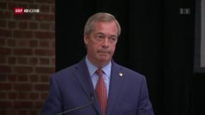 Video «Nigel Farage verlässt die UKIP» abspielen