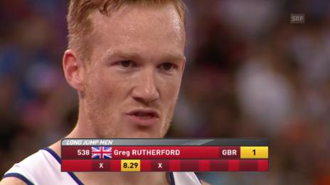 Video «Leichtathletik-WM in Peking: Rutherford gewinnt Gold im Weitsprung der Männer» abspielen