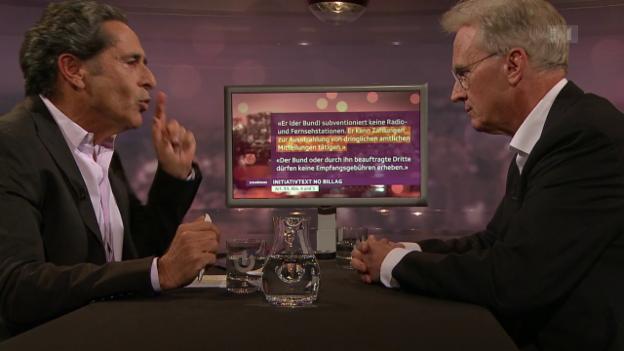 Video «Hans-Ulrich Bigler nimmt Stellung zur Ja-Parole zur No-Billag-Initiative des Bewerbeverbandes» abspielen
