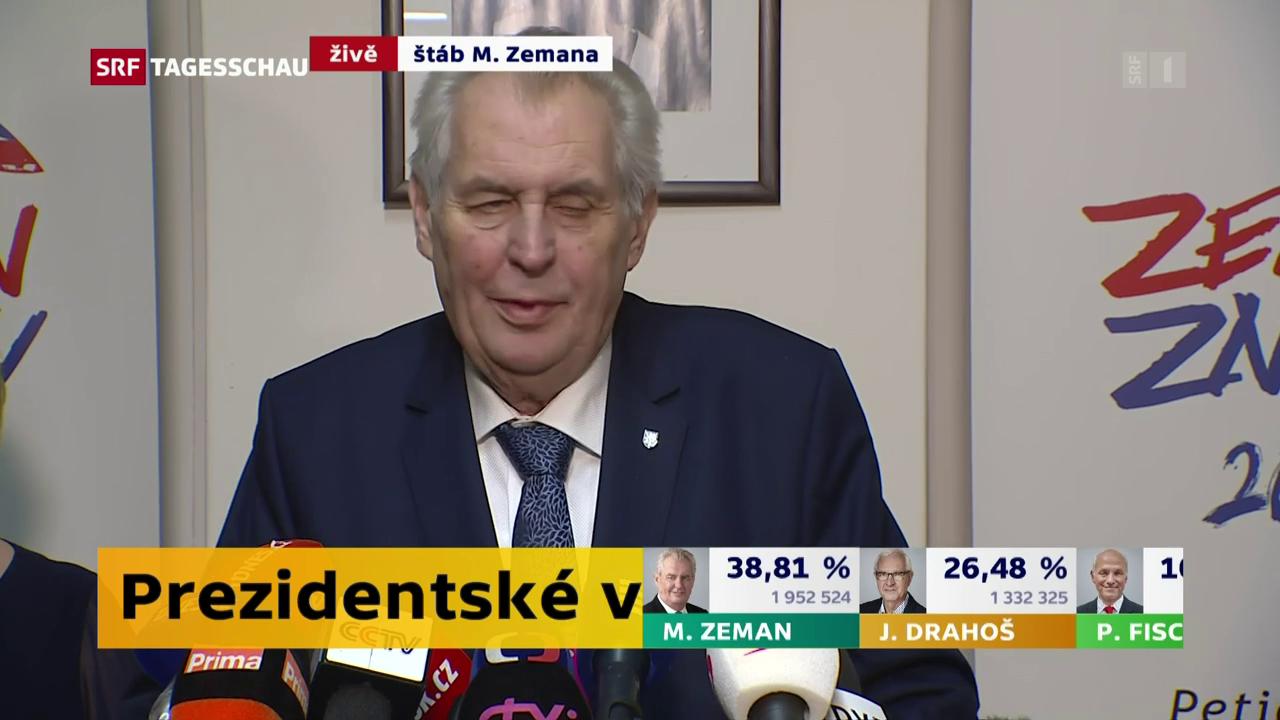 Zeman gewinnt die erste Runde