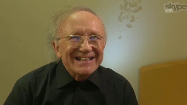Video «Dankesrede von Heinz Holliger per Liveschaltung» abspielen