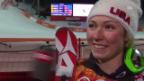 Video «Ski: Slalom der Frauen, Interview mit Mikaela Shiffrin (sotschi direkt, 21.02.2014)» abspielen