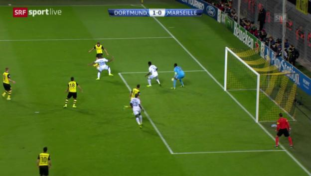 Video «Durms Torvorbereitung gegen Marseille» abspielen
