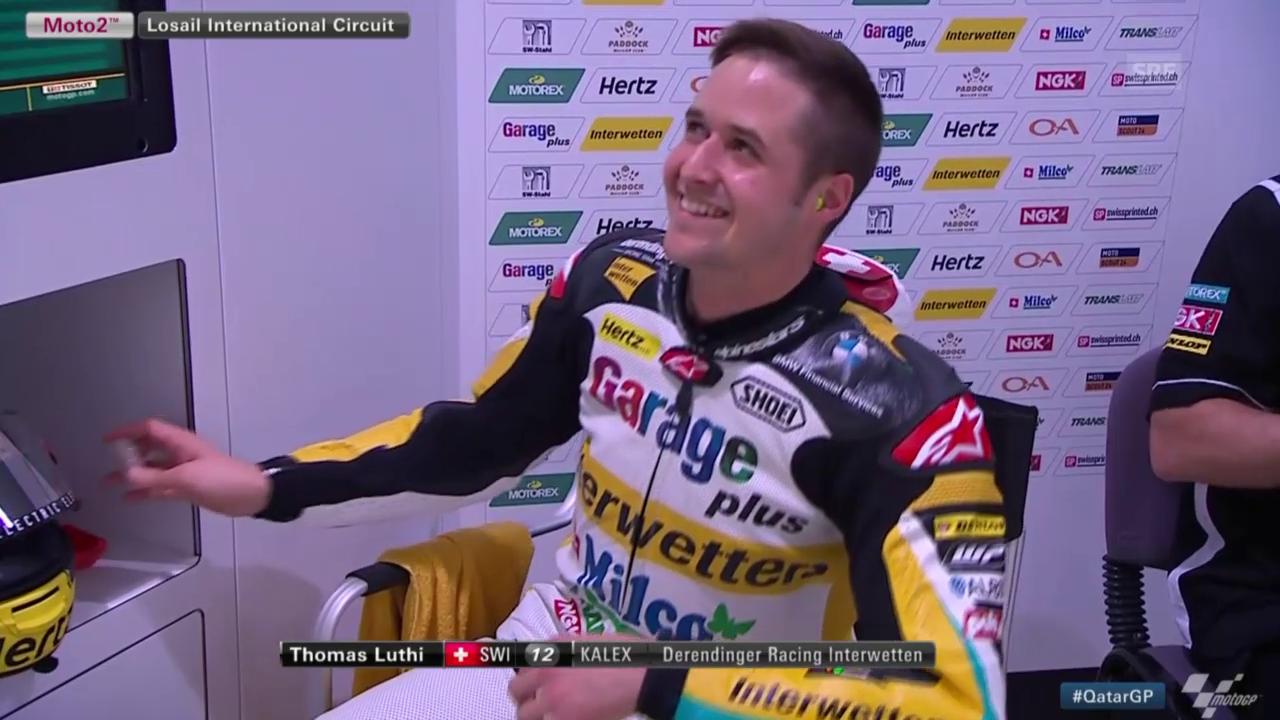 Motorrad: GP Katar, 1. Trainingstag Tom Lüthi