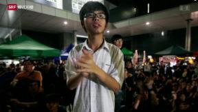 Video «Regenschirm-Revolution: 17-Jähriger gegen Peking» abspielen
