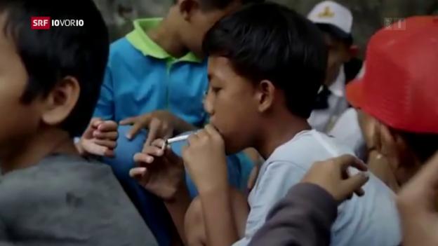 Video «Wenn schon Kleinkinder am Glimmstängel ziehen» abspielen