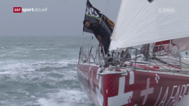 Video «Alan Roura an der Vendée Globe im Ziel» abspielen