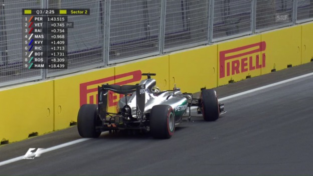 Video «Hamiltons Crash im Qualifying» abspielen