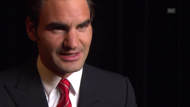 Video «Tennis: Match for Africa, Federer Interview» abspielen