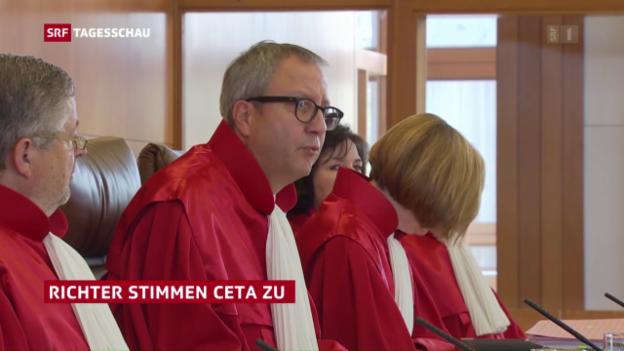 Video «Deutsches Verfassungsgericht stellt sich nicht in den Weg» abspielen
