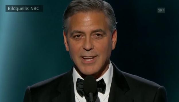 Video «George Clooney Liebeserklärung an Amal» abspielen