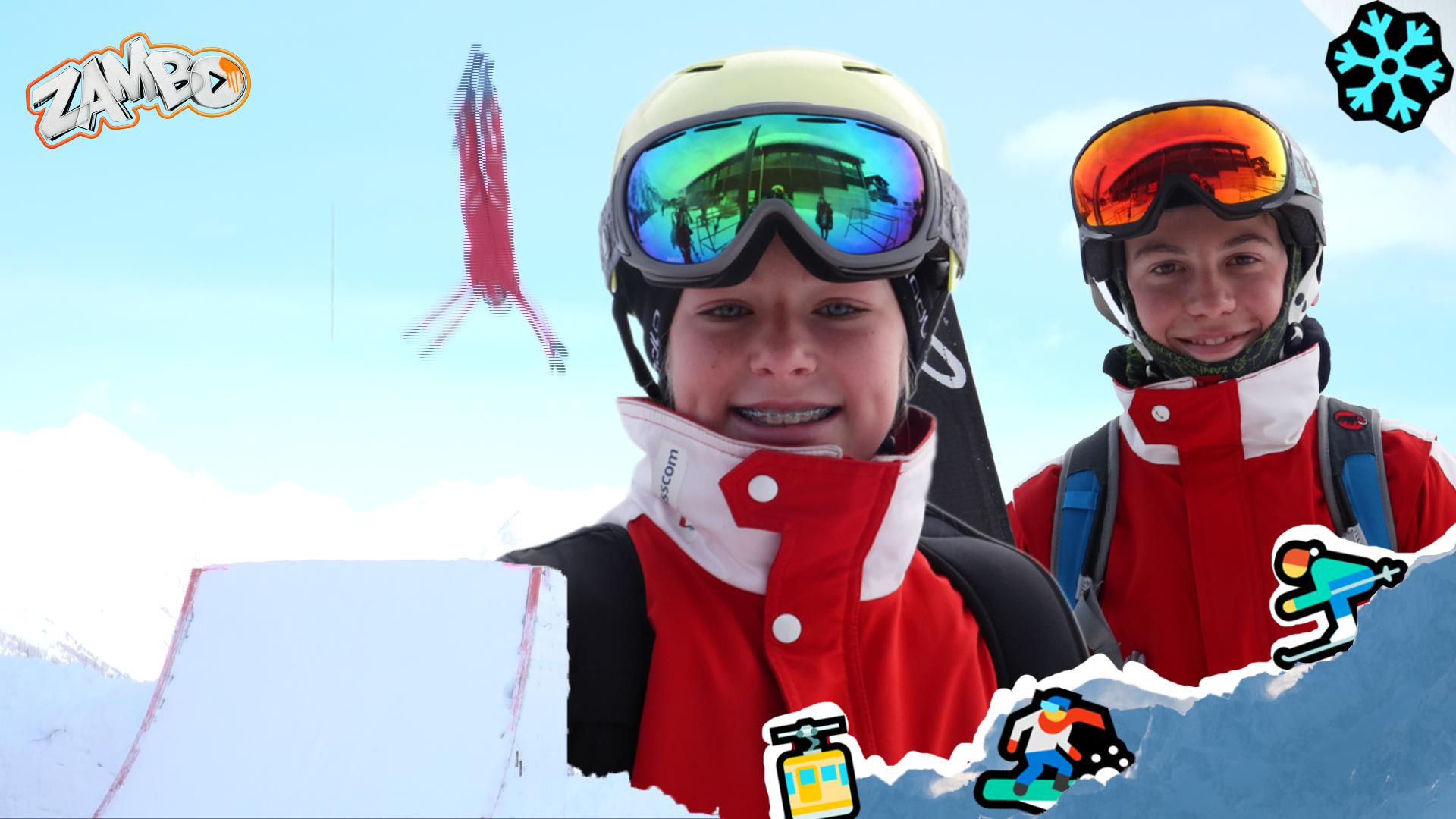 Ursina und Fabian, die Ski-Aerial-Profis