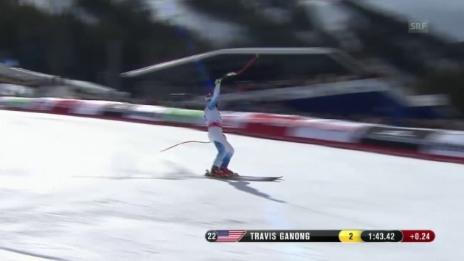Video «Ski, WM-Abfahrt Beaver Creek, Fahrt von Ganong» abspielen