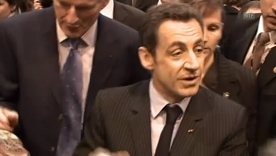 «Hau ab, du Idiot»: Sarkozys Ausraster (Originalton)