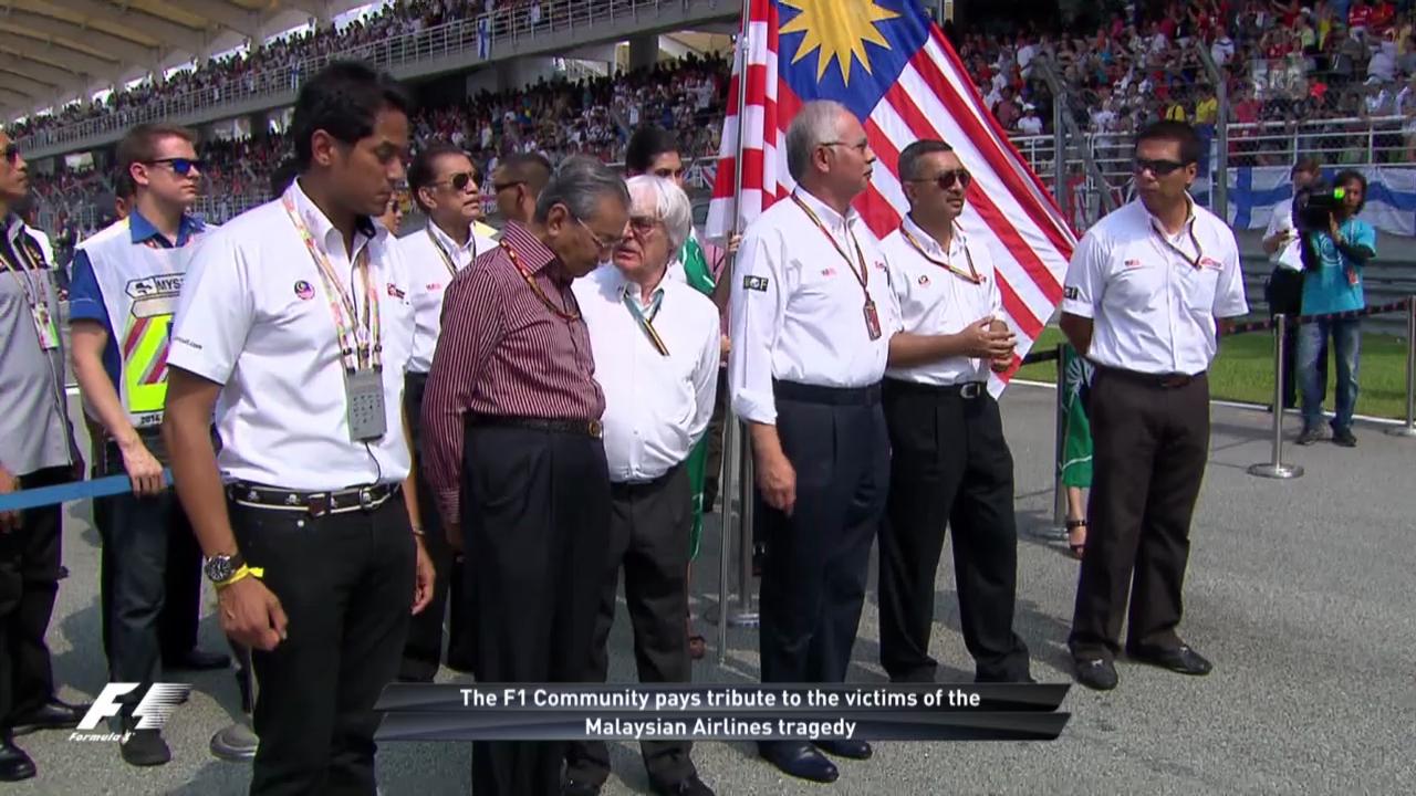 Formel 1: Schweigeminute für die Opfer des Flugzeugsabsturzes