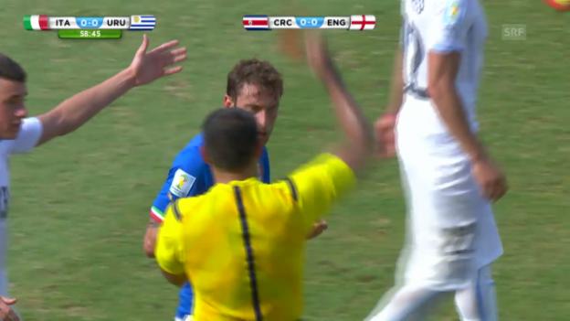 Video «FIFA WM 2014: Claudio Marchisio sieht Rot» abspielen