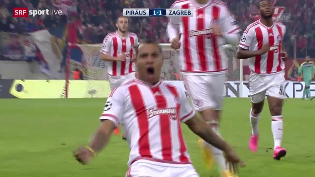 Fussball: Champions League 2015/16, Gruppenphase, 4. Runde, Olympiakos - Zagreb