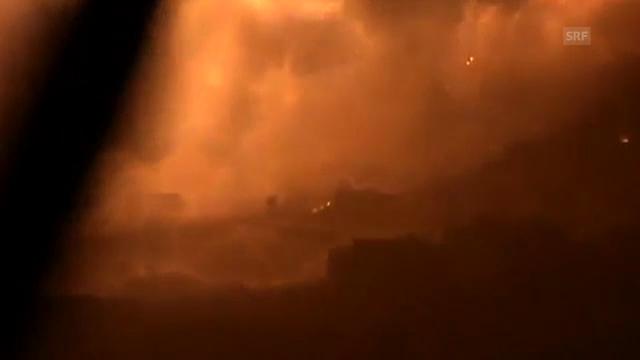 Amateuraufnahmen von Explosionen bei Damaskus. (unkommentiert)