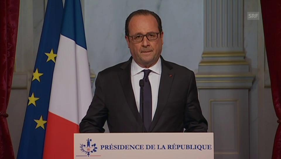 Präsident François Hollande ruft Notstand aus