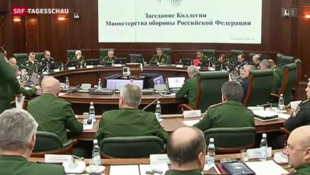 Video «Putin lässt Kriegsschiffe auffahren» abspielen