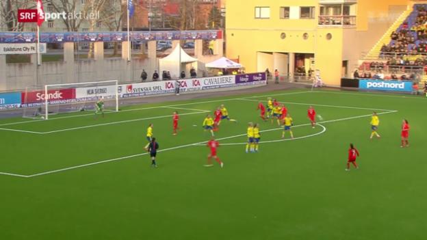 Video «Fussball: Abschluss des Camps der Frauen-Nati in Schweden» abspielen
