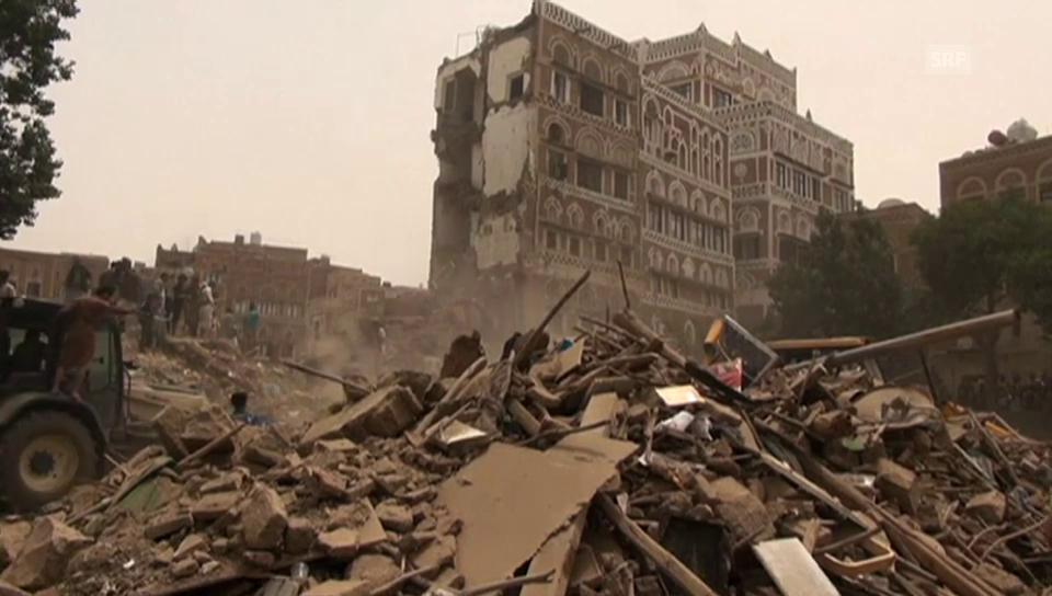 Die Schäden in der jemenitischen Hauptstadt Sanaa (unkommentiert)