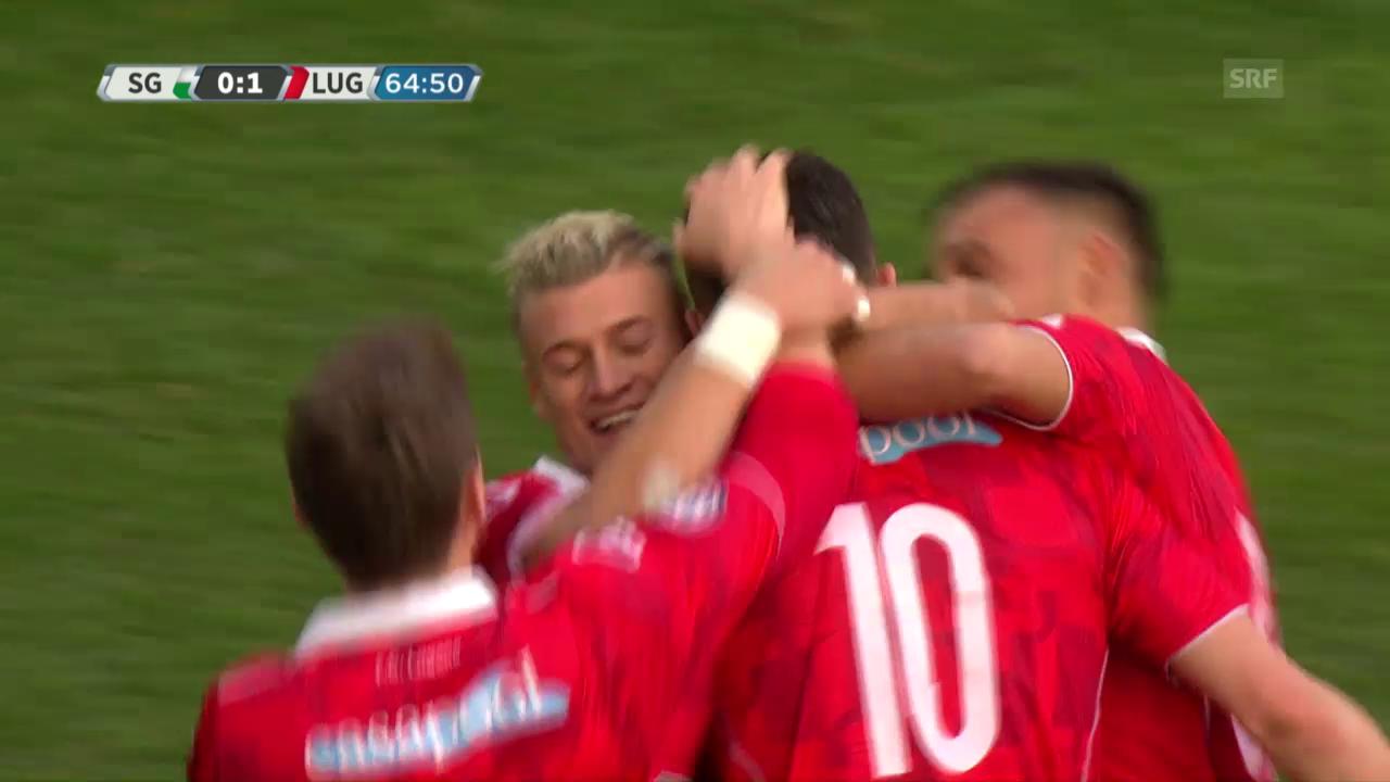 Die Live-Highlights bei St. Gallen gegen Lugano