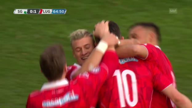 Video «Die Live-Highlights bei St. Gallen gegen Lugano» abspielen