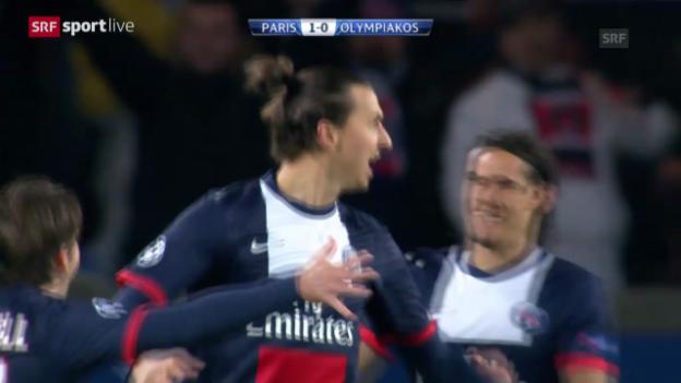 Video «Fussbal: CL, Paris St-Germain - Olympiakos Piräus» abspielen
