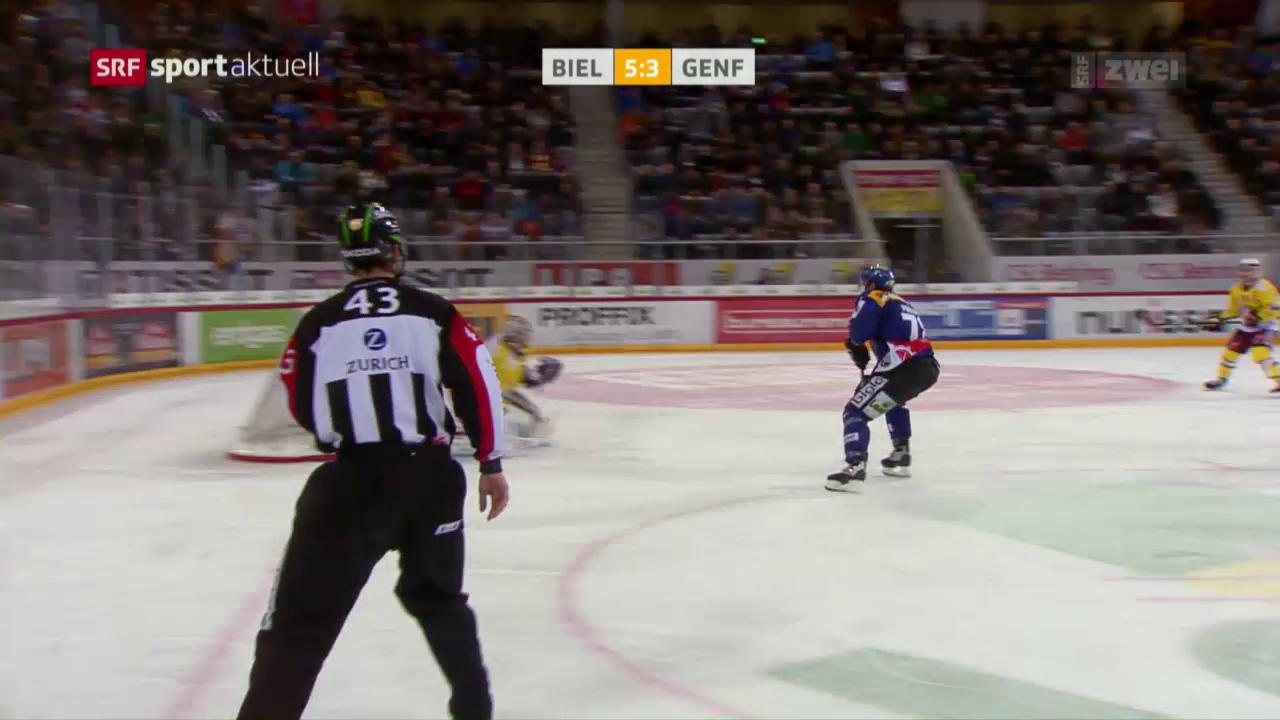 Biel schlägt Genf und steht in den Playoffs