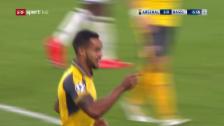 Video «Nach Walcotts Doublette liegt der FCB früh im Hintertreffen» abspielen