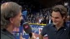 Video «Schon in Basel sorgte Federer im Jahr 2007 mit einem Lachanfall für Furore.» abspielen