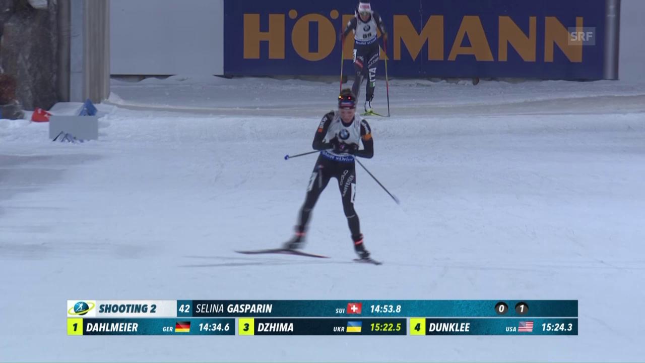 Gasparin bei Dahlmeier-Sieg knapp an Top 10 vorbei