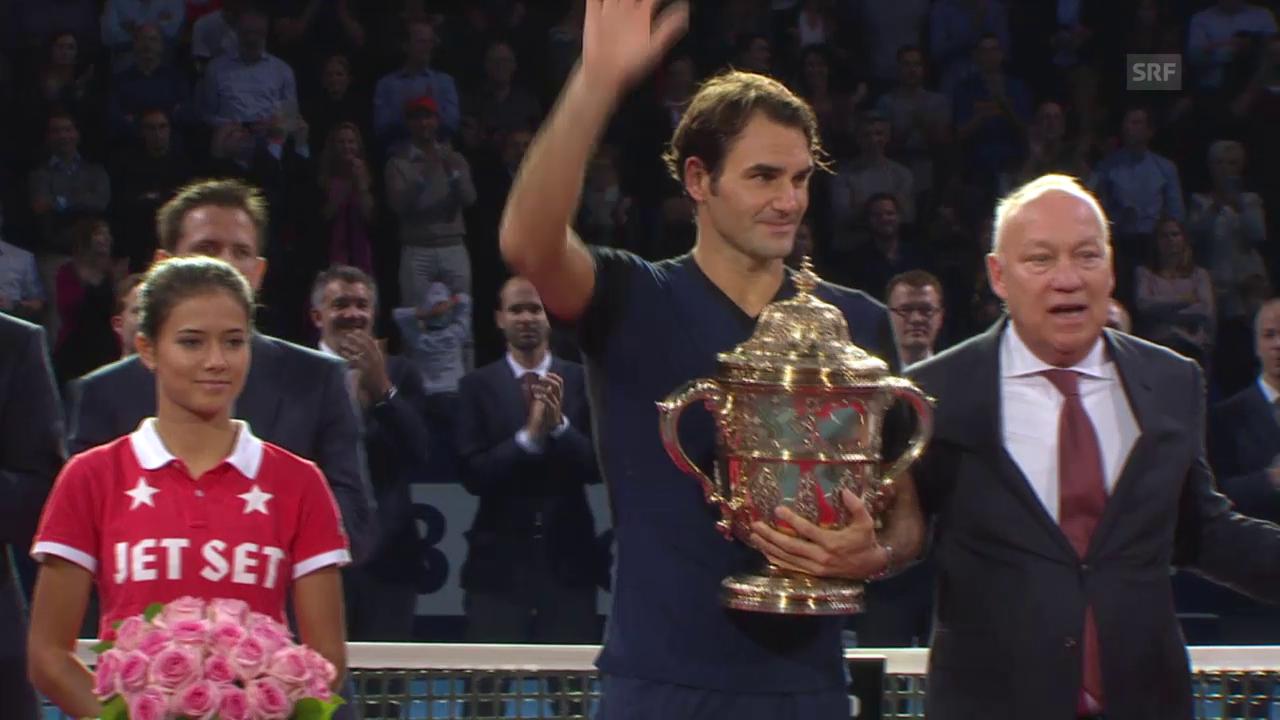 Tennis: Swiss Indoors, Siegerehrung