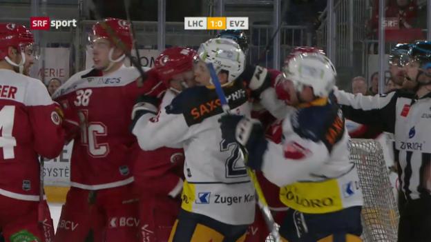 Video «Lausanne mit Mini-Sieg gegen Zug» abspielen