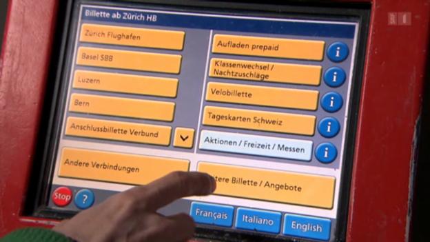 Video «Ärger am Billettautomat: Neue Tarifzonen verwirren Bahnkunden» abspielen