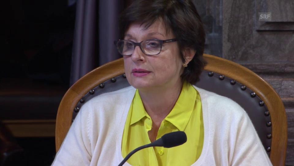 Anita Fetz (SP/BS) kritisiert den Bundesrat