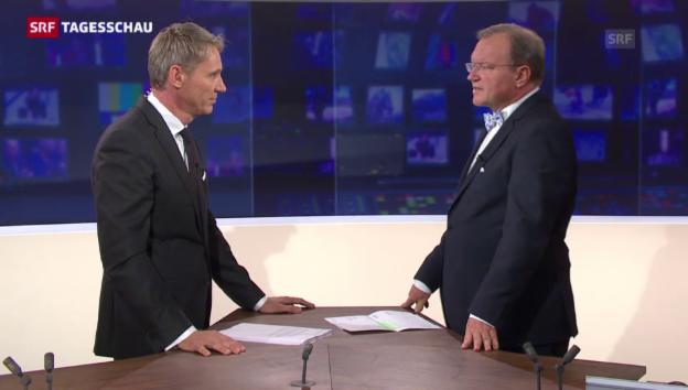Video «Longchamp: «SVP, FDP, Lega und MCR kommen auf 100 Sitze.»» abspielen
