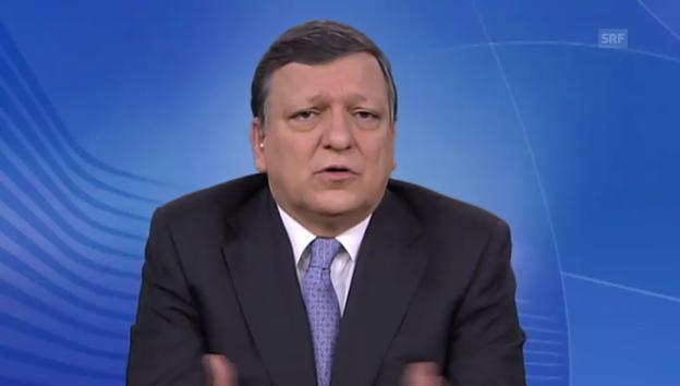 Video «José Manuel Barroso über Rosinenpickerei (französisch)» abspielen